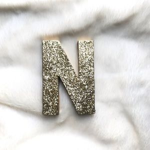 Other - Gold Glitter Letter 'N' Standing Party Decor